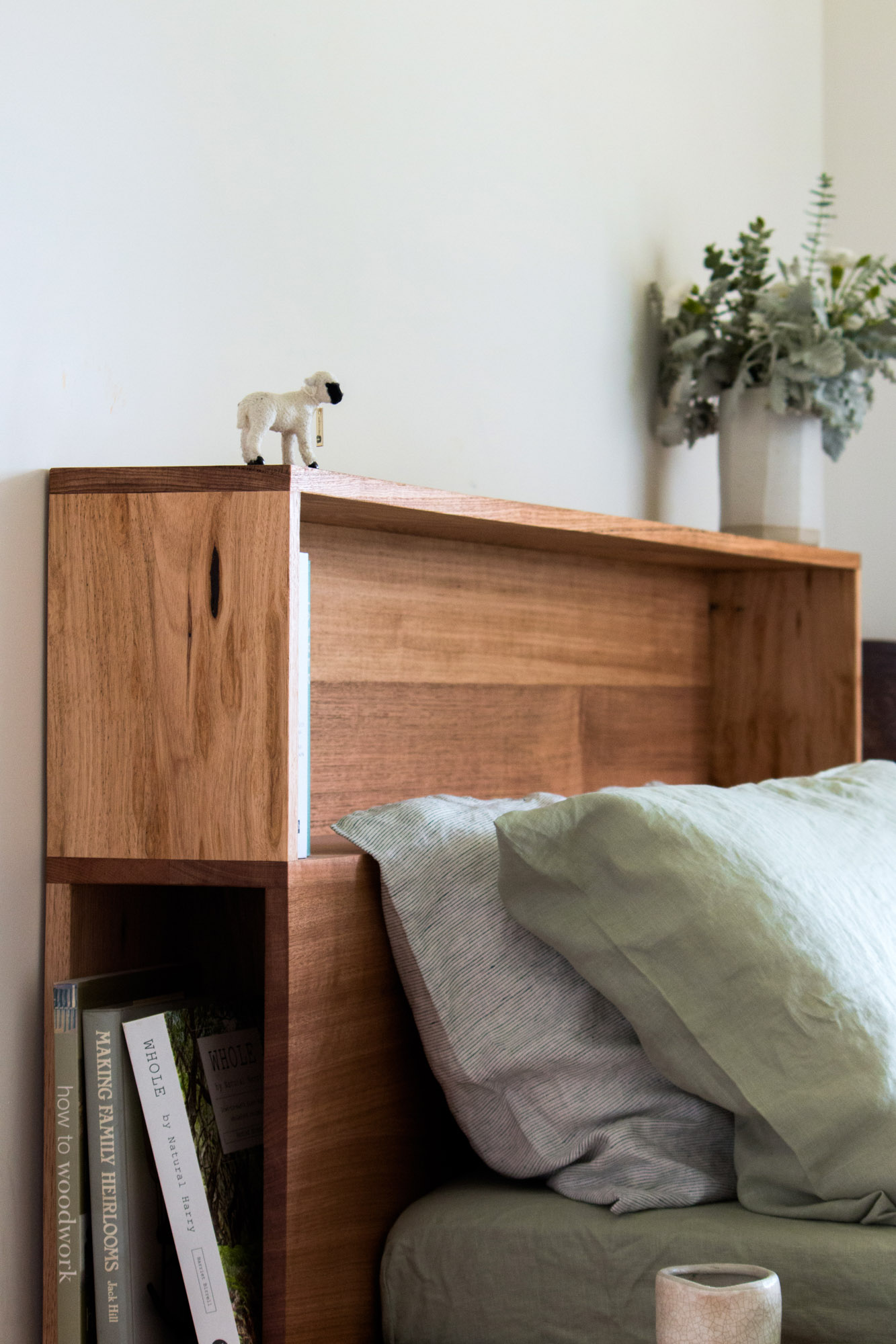 Al and Imo Handmade - Bookshelf Bedhead Platform Bed - Custom made from recycled timber - Australia - Melbourne - Surf Coast-29.jpg