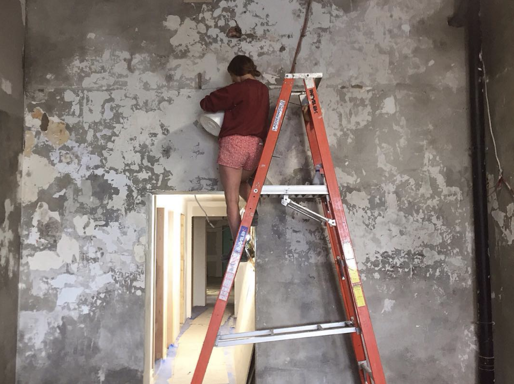 Jamie working on Kekou interior
