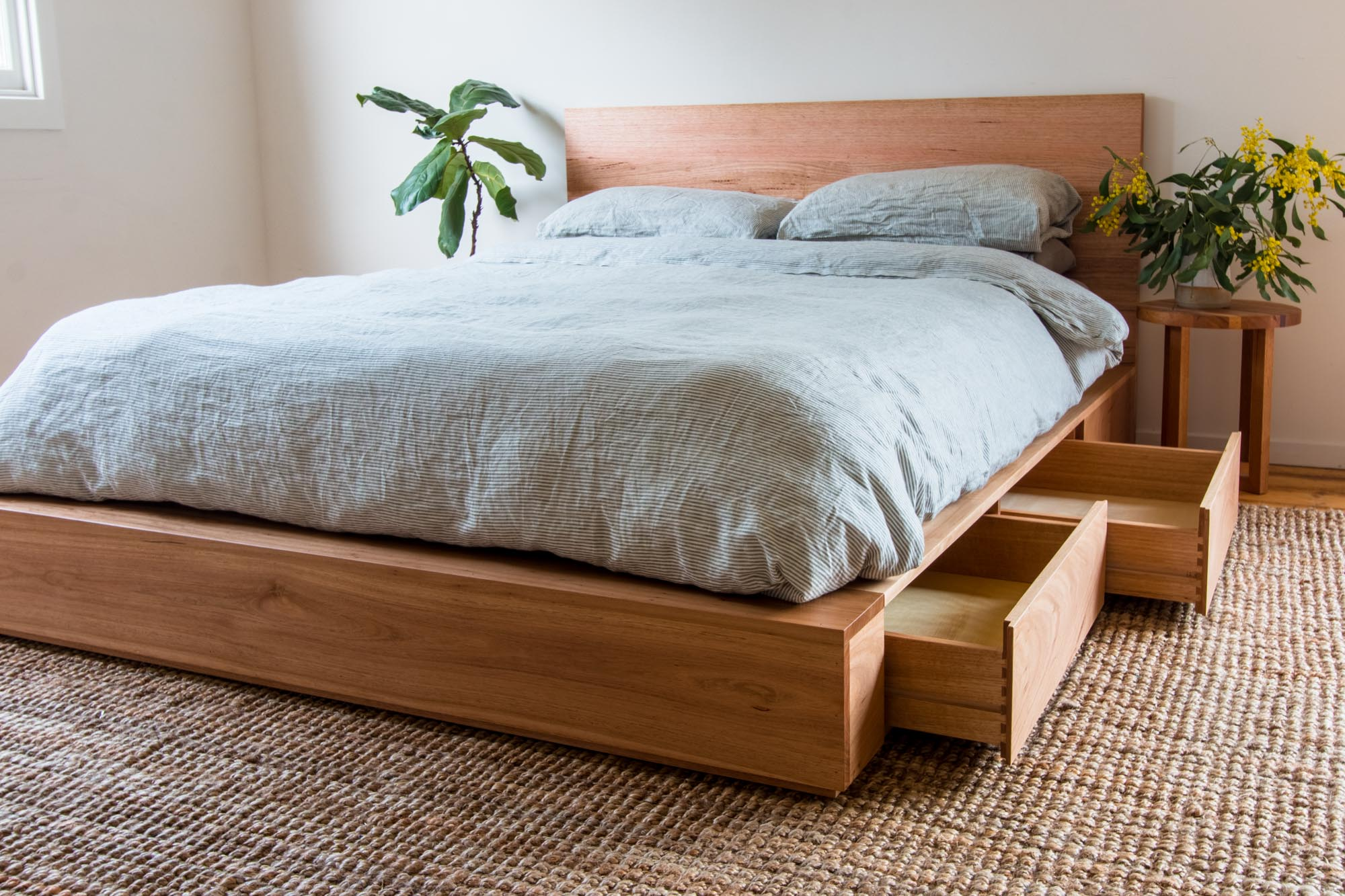 Al and Imo Handmade - Recycled Timber Platform Bed with drawers - Melbourne - Australia-3.jpg