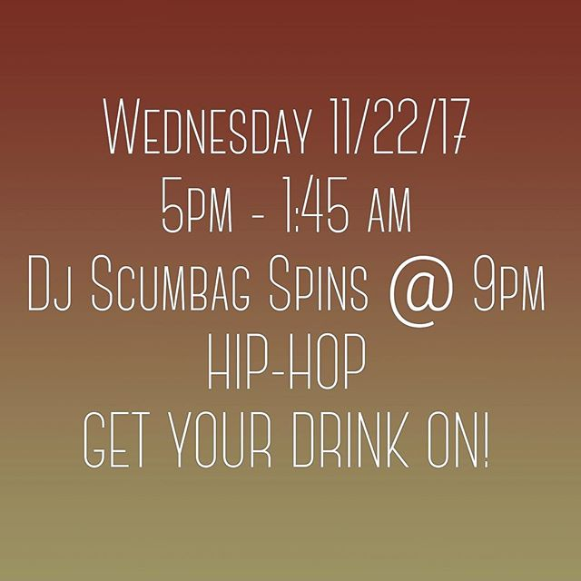 Tonight, DJ Scumbag spins @9pm . . . . . #bars #holiday #dtla #losangeles #thanksgiving #dj #goodtime #goodtimes #wednesday
