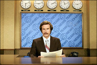 Imagine me presenting the daily news from behind that desk, and with that mustache