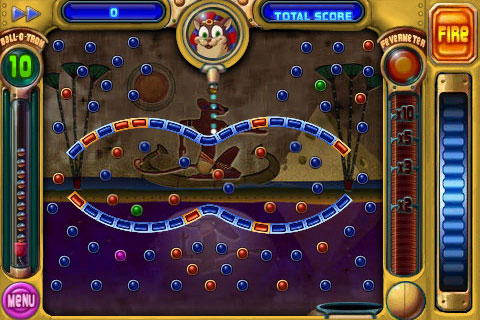 Colorful pegs come in all shapes and sizes. Green ones activate a Peggle Master's powers, while purple pegs act as score multipliers.