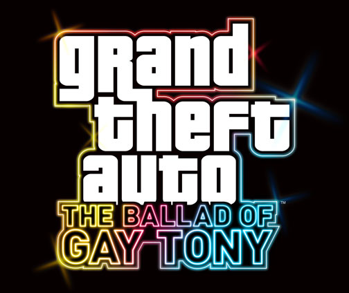 "Oh my. The logo for the next piece of GTA IV DLC, ""The Ballad of Gay Tony,"" looks appropriately fabulous."