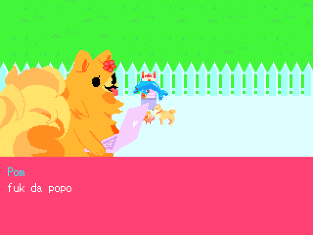 The Pomeranian walks on its hind legs because it needs to hold its laptop with its front legs