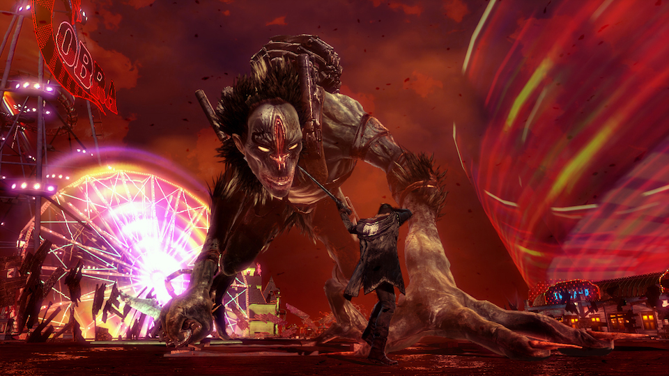 Surprisingly enough, Dante encounters this big guy quite early in DmC. If this is an early boss…yikes.