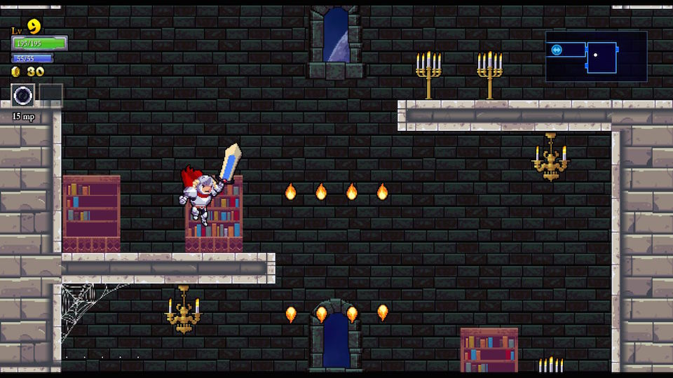 The castle setting, breakable candelabras and emphasis on clever jumping ought to look familiar to any Castlevania fan, but Rogue Legacy infuses some much-needed progress into a tired, old formula