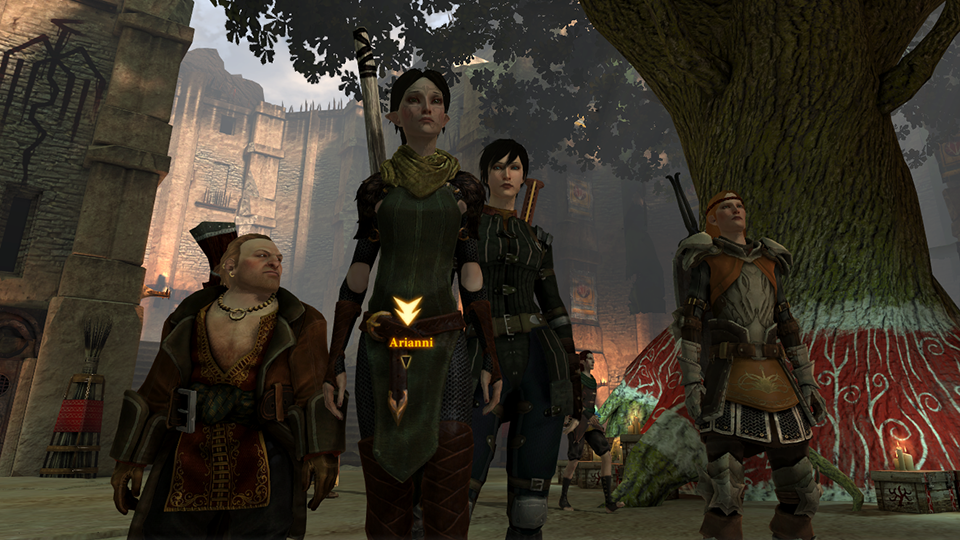 My Dragon Age 2 crew, somewhere between looking bad-ass and bored. It's a delicate balance.