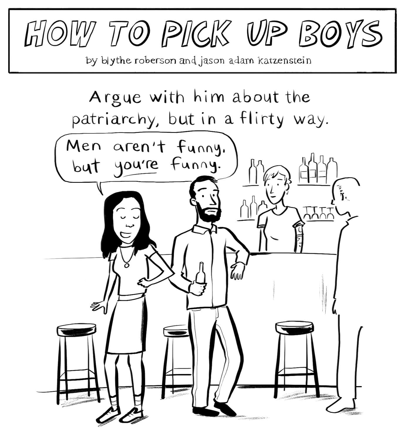 How To Pick Up Boys: Patriarchy Edition