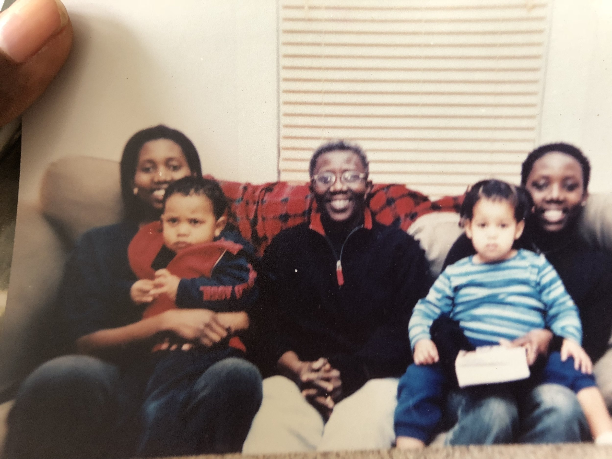 From left to right - me, my nephew, my mother, my daughter and my sister.