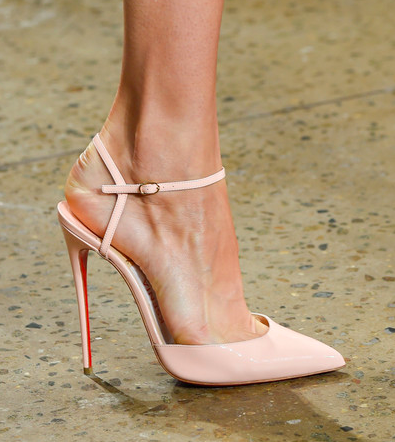 These are very cute pink heels- very subtle and soft