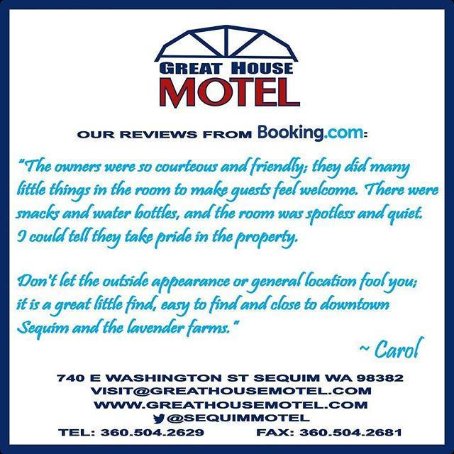 It's the little things that can make all the difference!  Thank you for noticing Carol :) #GreatHouseMotel #Sequim #motel #Washington