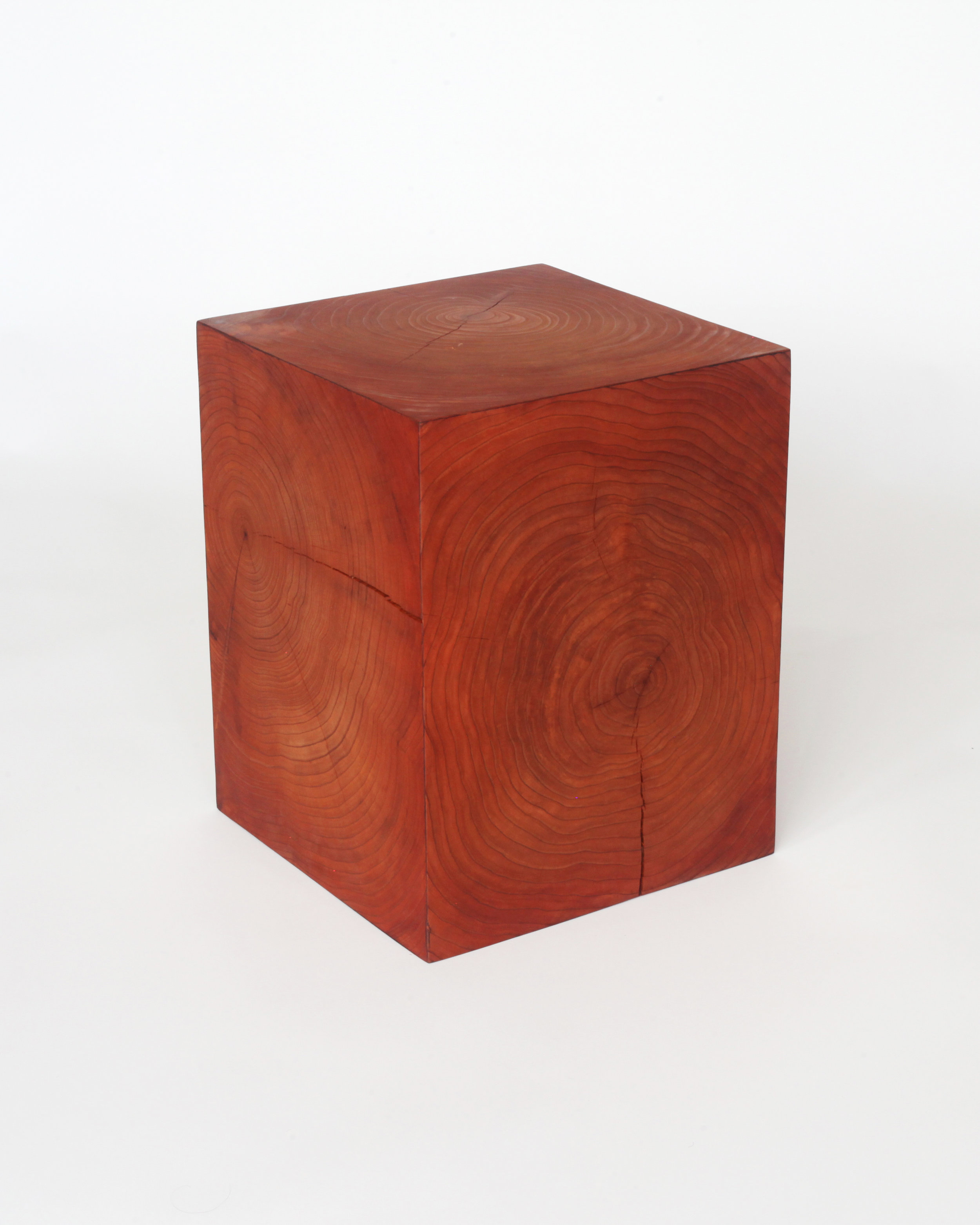 Block side table-  Redwood endgrain