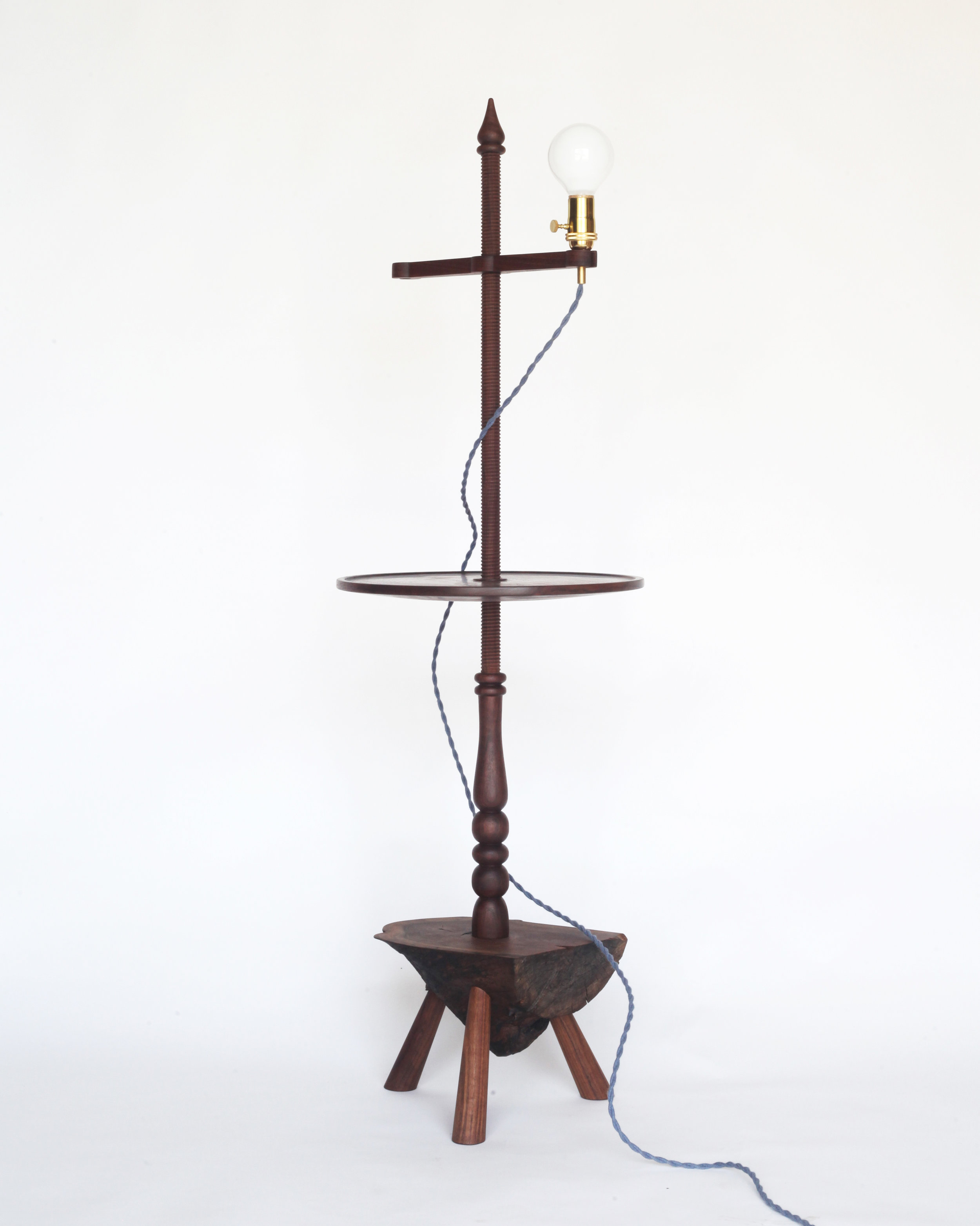 Shaker-style floor lamp-  Claro walnut