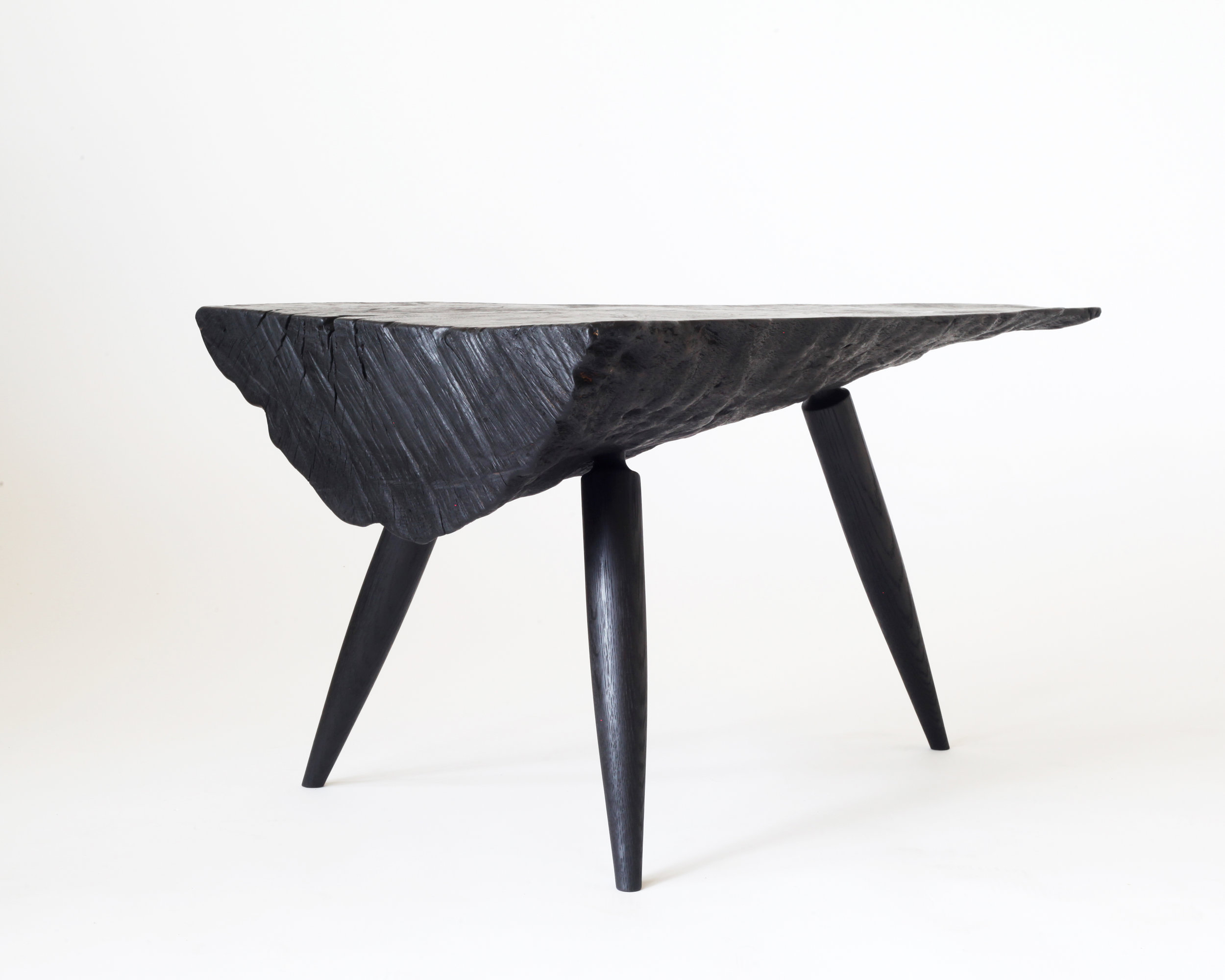 Side table-  Charred California live oak