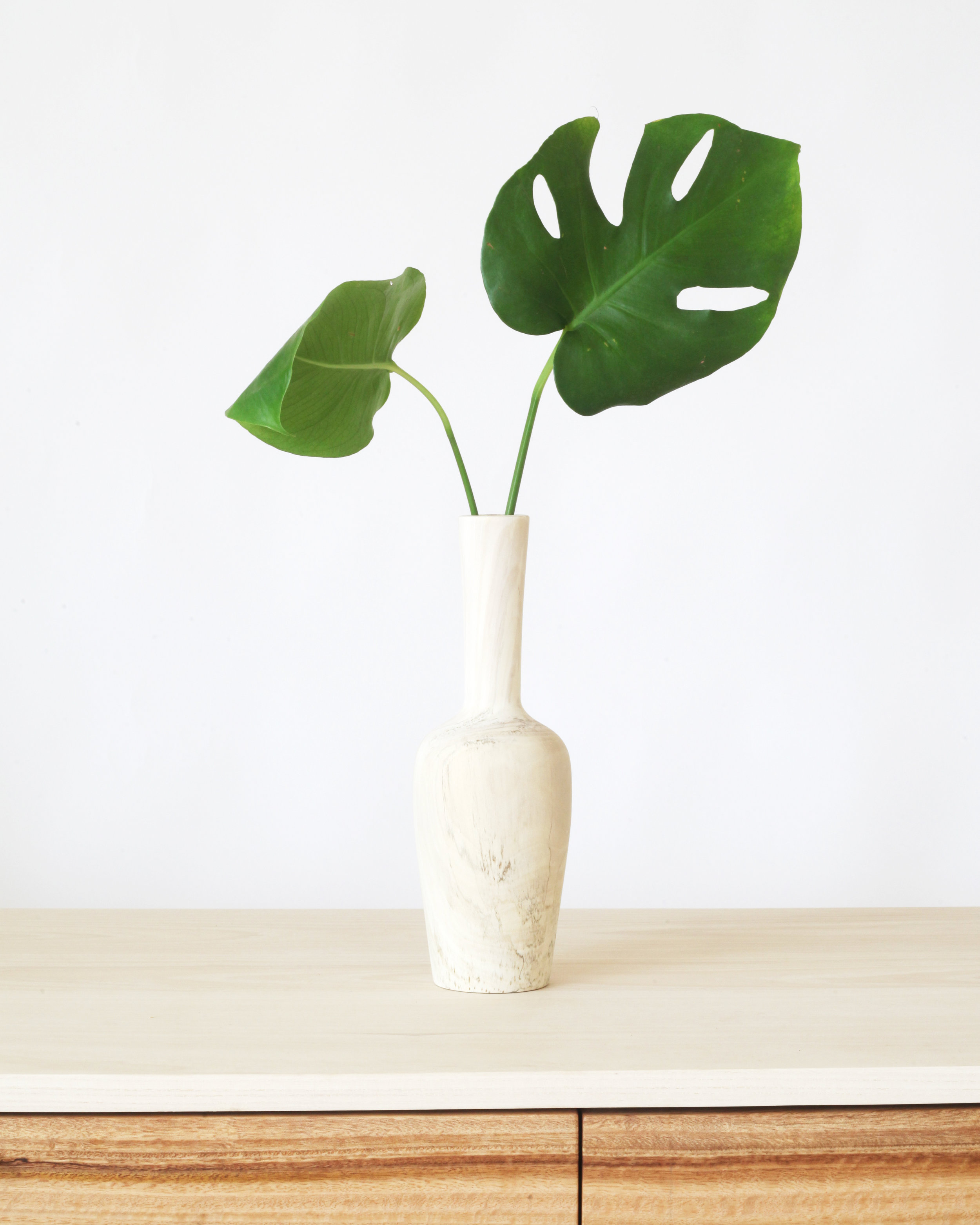 Vase-  Bleached sycamore