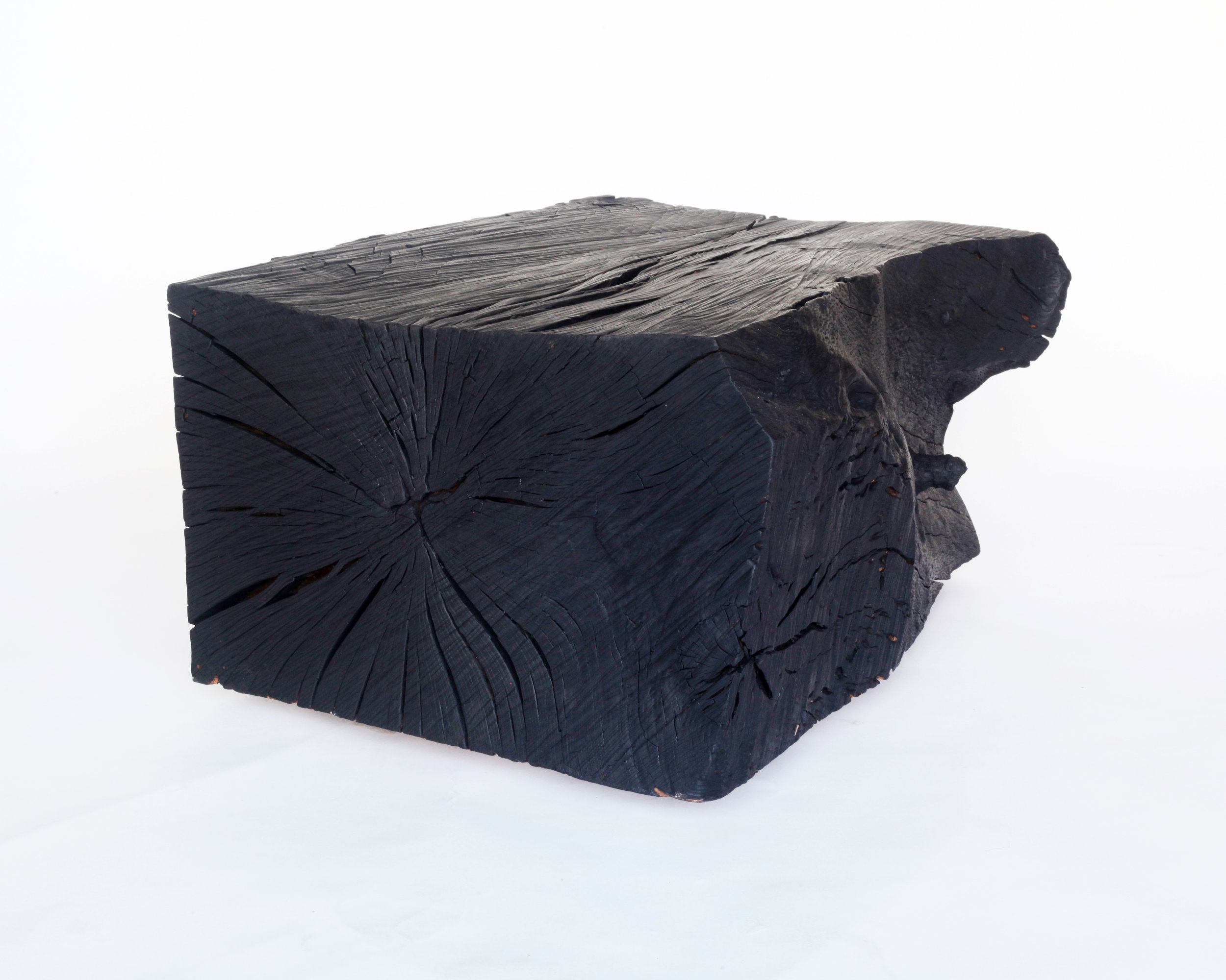 Coffee table-  Charred California live oak block