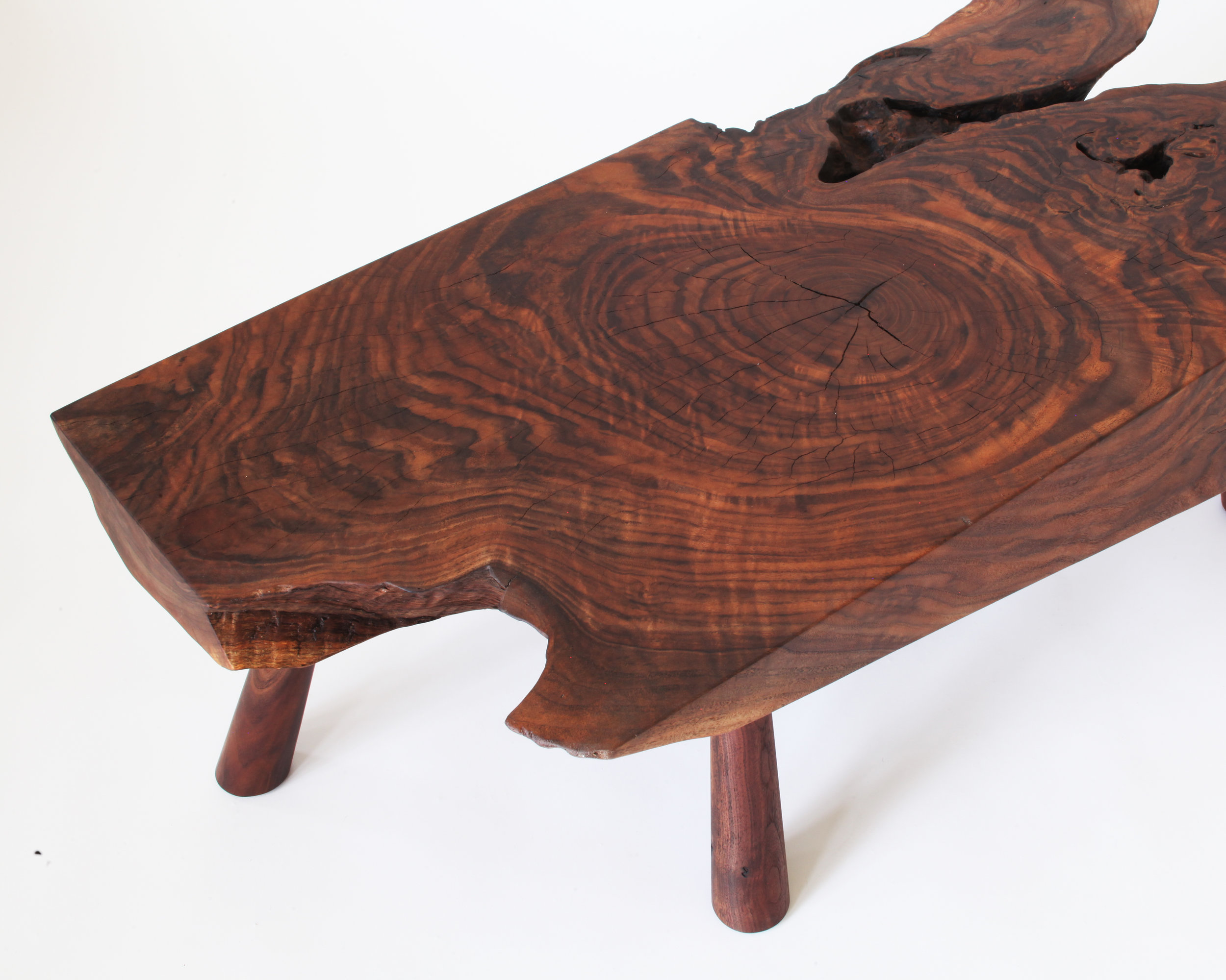 coffee table-  claro walnut