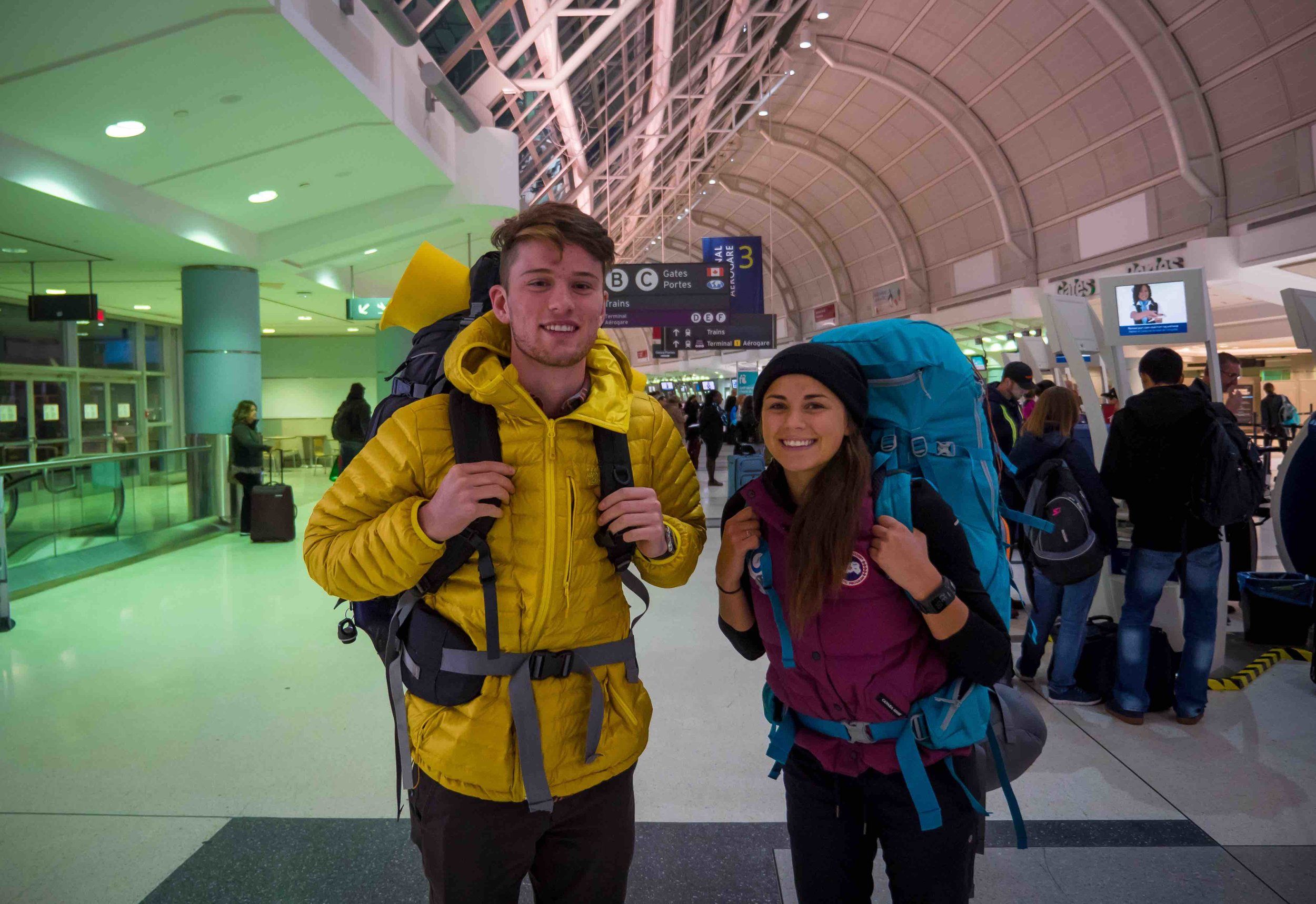 Nick and Erinn Toronto Airport Polar Catalyst