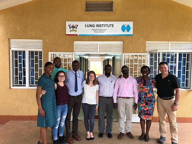 Dina Goodman working with our team in Uganda. Thank you, Dina, for all the hard work you've done for us. The GlobalNCD team will surely miss you. Best of luck at Harvard SPH!