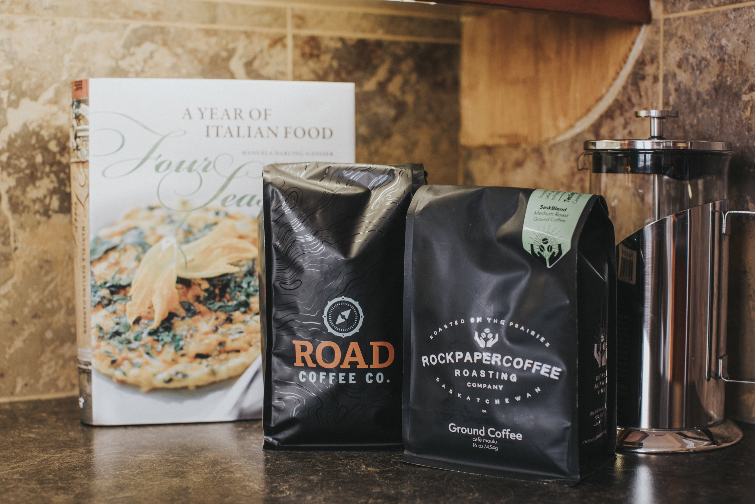 Road Coffee Co . and  Rock Paper Coffee Roasting Company  are always ready for brewing.