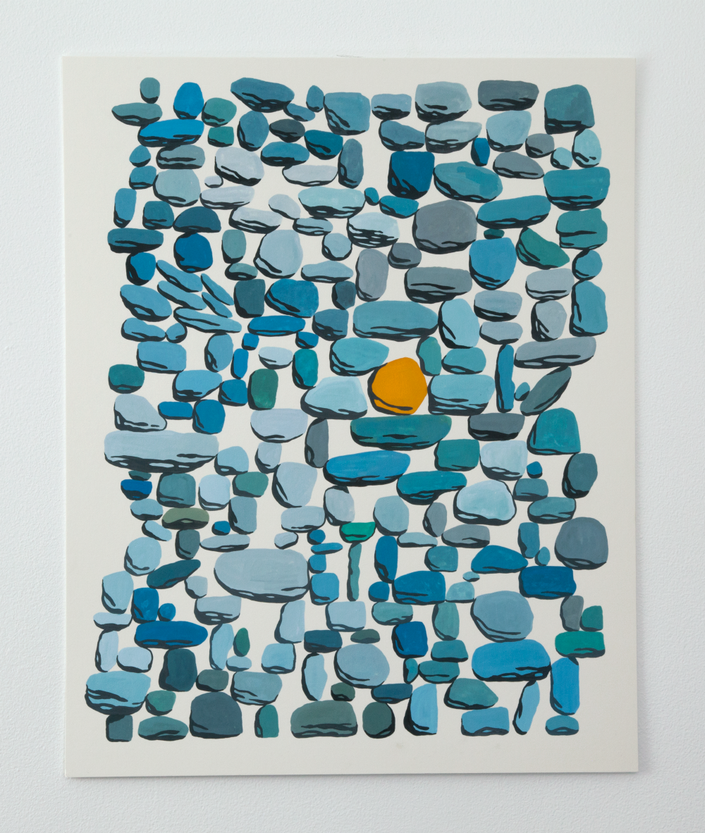 Untitled (Sun), Gouache on board, 2017, 16 x 20