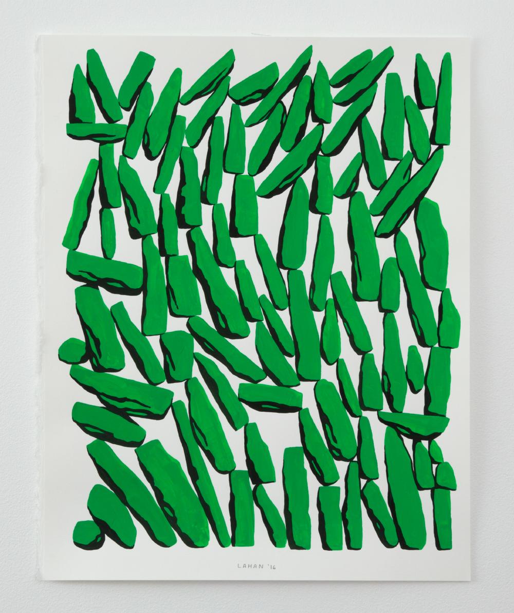Grass, gouache on paper, 11 x 14