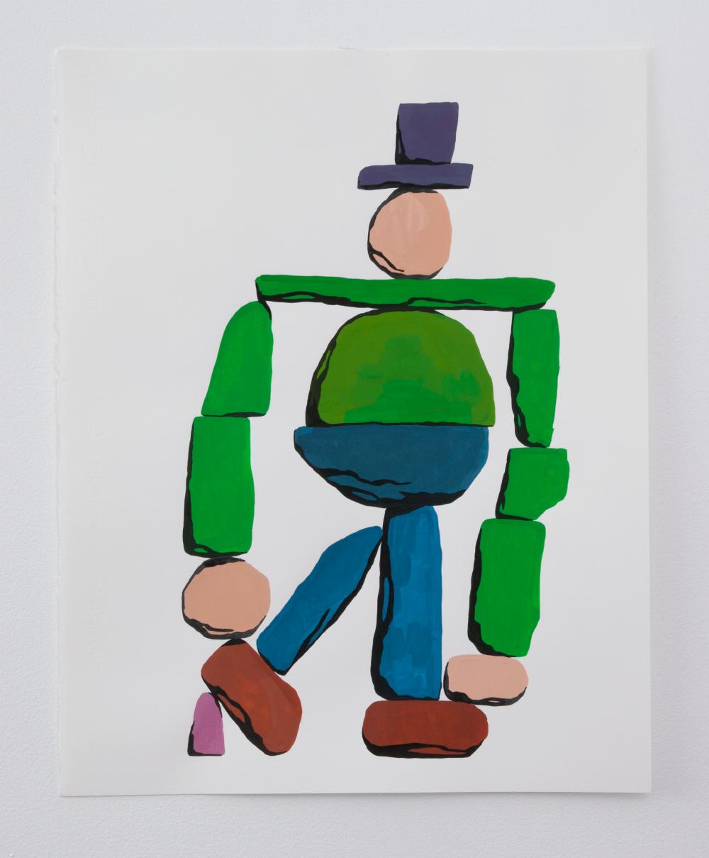 Gumshoe, Gouache on board, 2016, 16 x 20