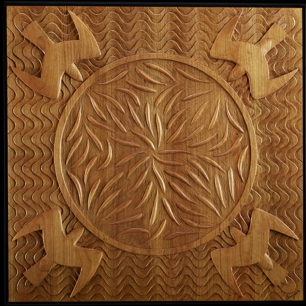Frenzy - John Bryan Carving - hand carved table panel