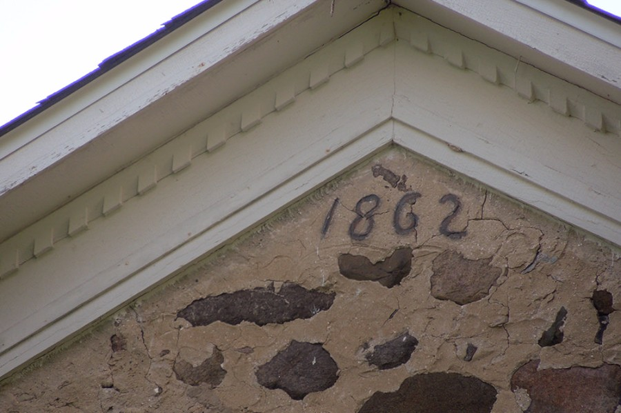 Steeped in History - The Civil War era fieldstone farmhouse dates to 1862 – Abe Lincoln was in office when this date was inscribed!
