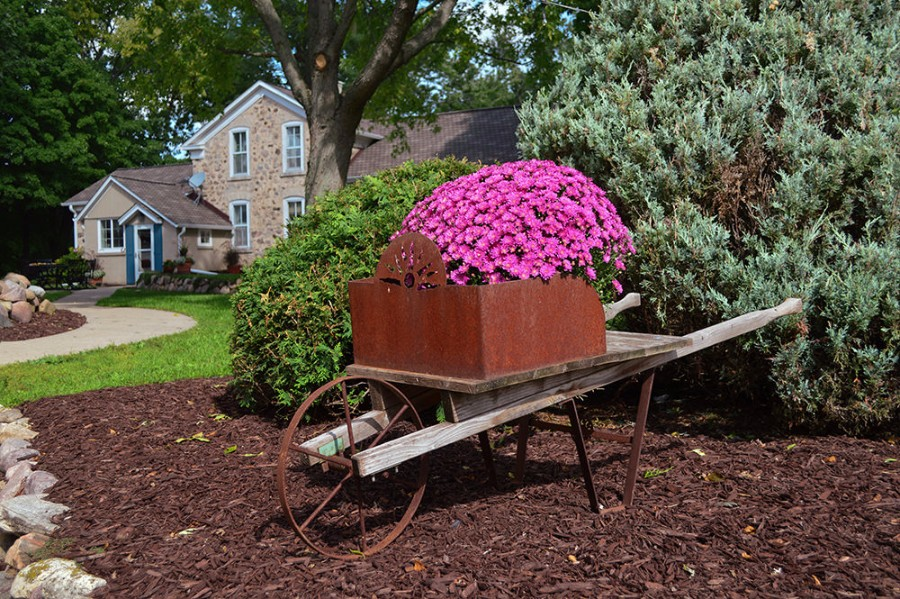 Rustic Charm – Antiques and artifacts of days gone by add points of interest around the farm.