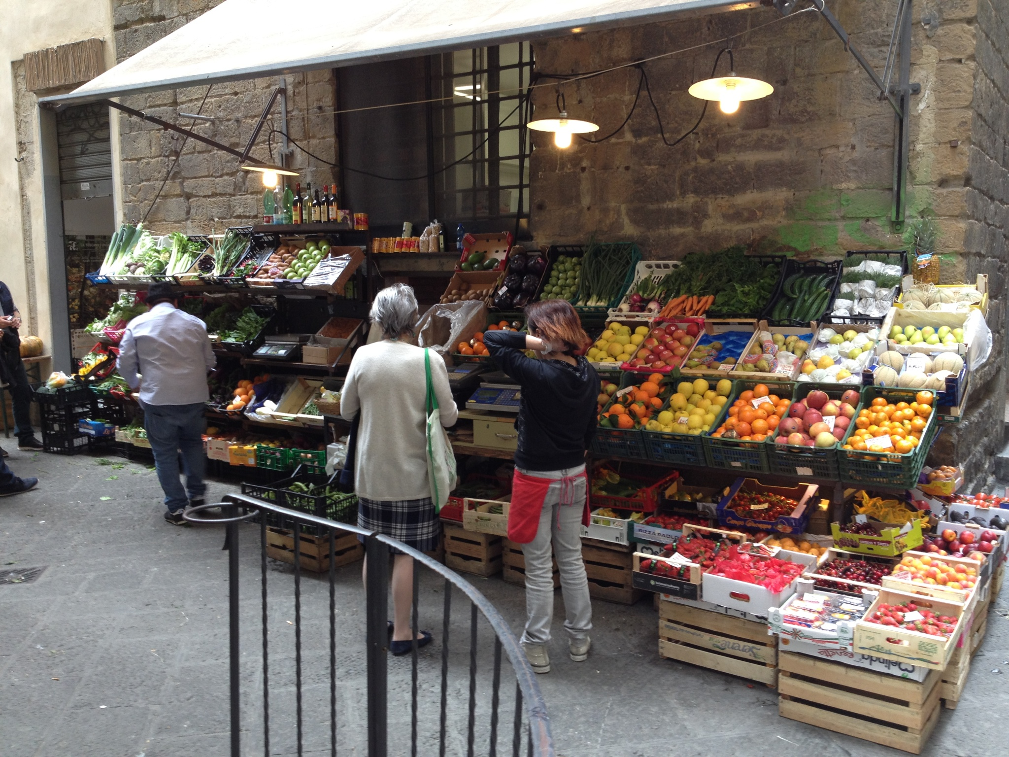 A typical open air market in Florence