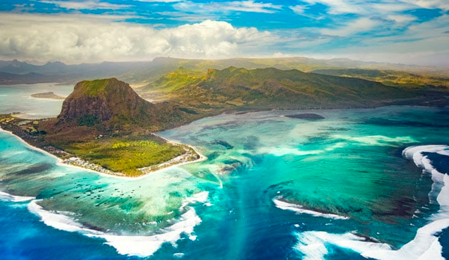 The Southwestern tip of the island of Maritius:  Le Morne Brabant