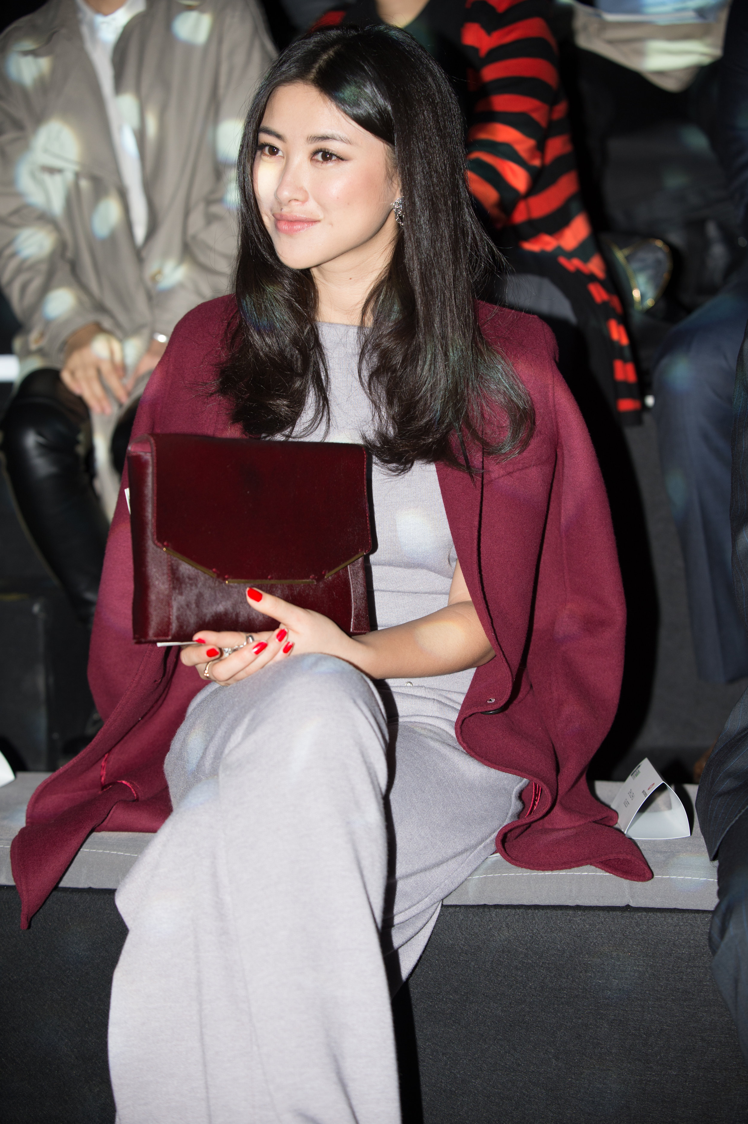 Chinese actress Zhu Zhu attends the Redress Design Award 2012 China Grand Final Show