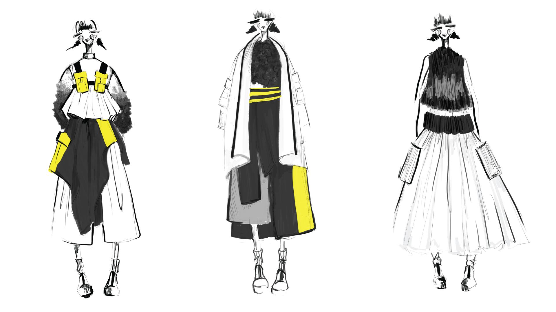 Redress Design Award 2015/16 collection sketches