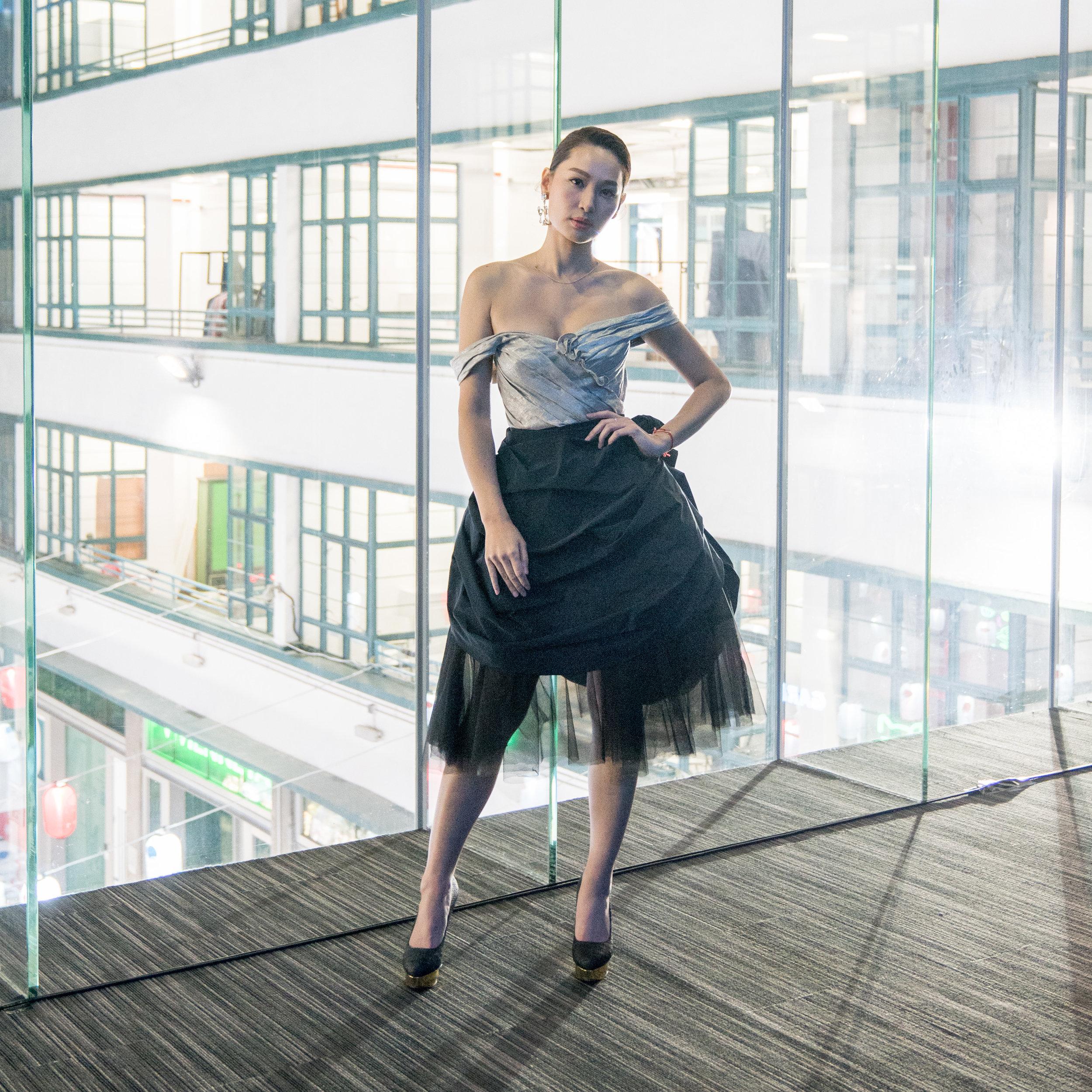 EcoChic Design Award 2017 ambassador Kate Tsui wears Absurd Laboratory