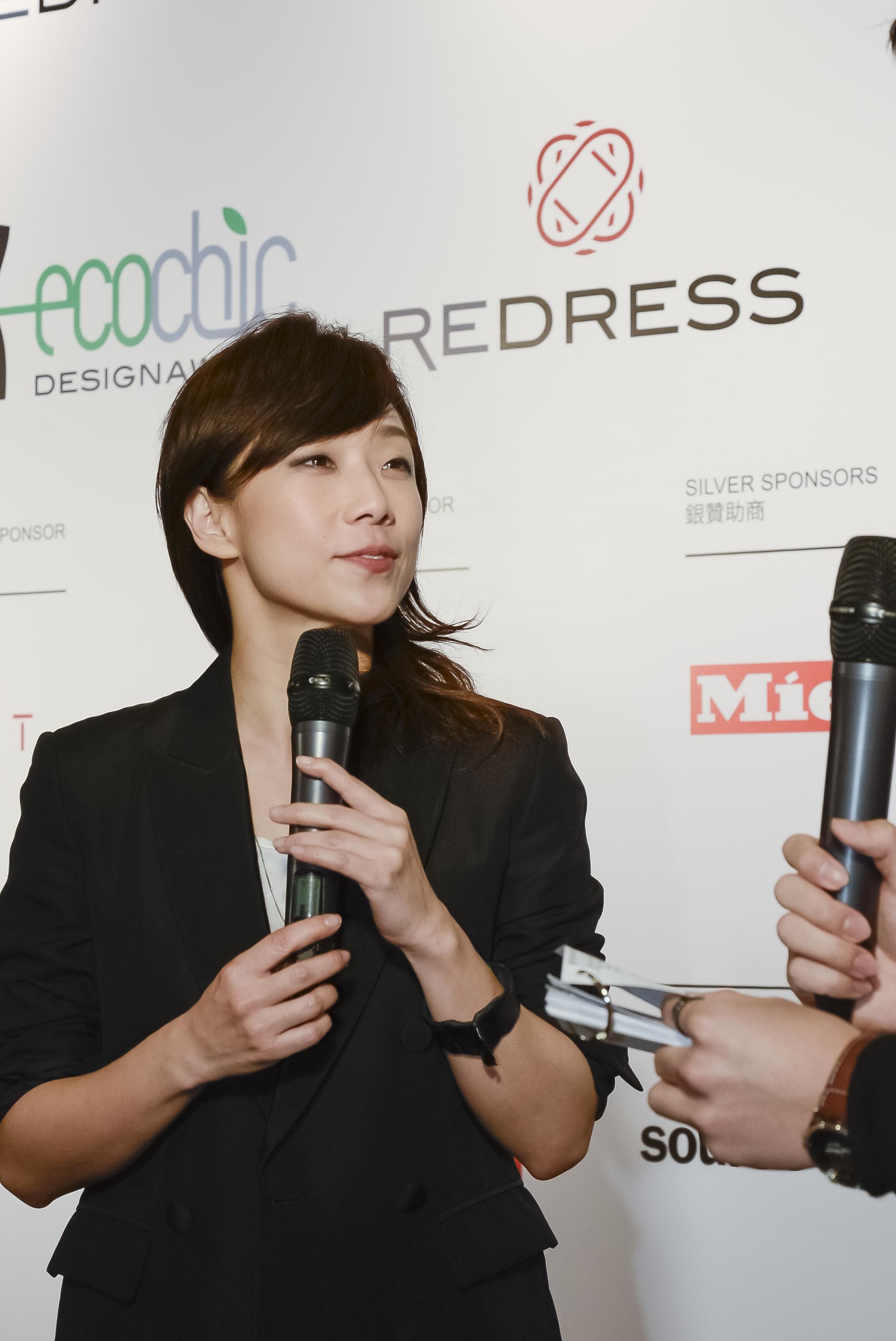 Hong Kong singer Sandy Lam attends the Redress Design Award 2013 Hong Kong launch event