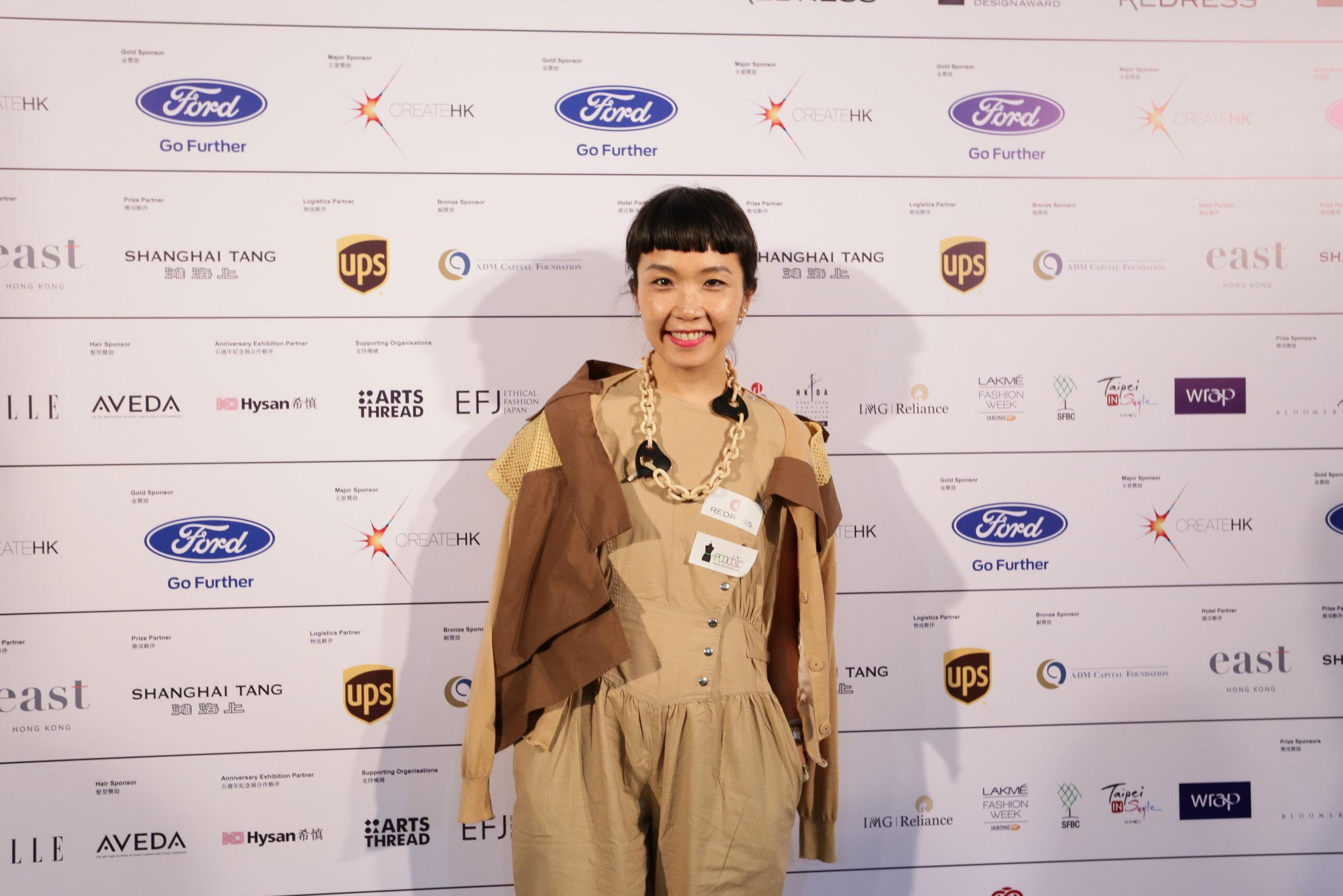 Hong Kong designer Johanna Ho attends the Redress Design Award 2015/16 Grand Final Show