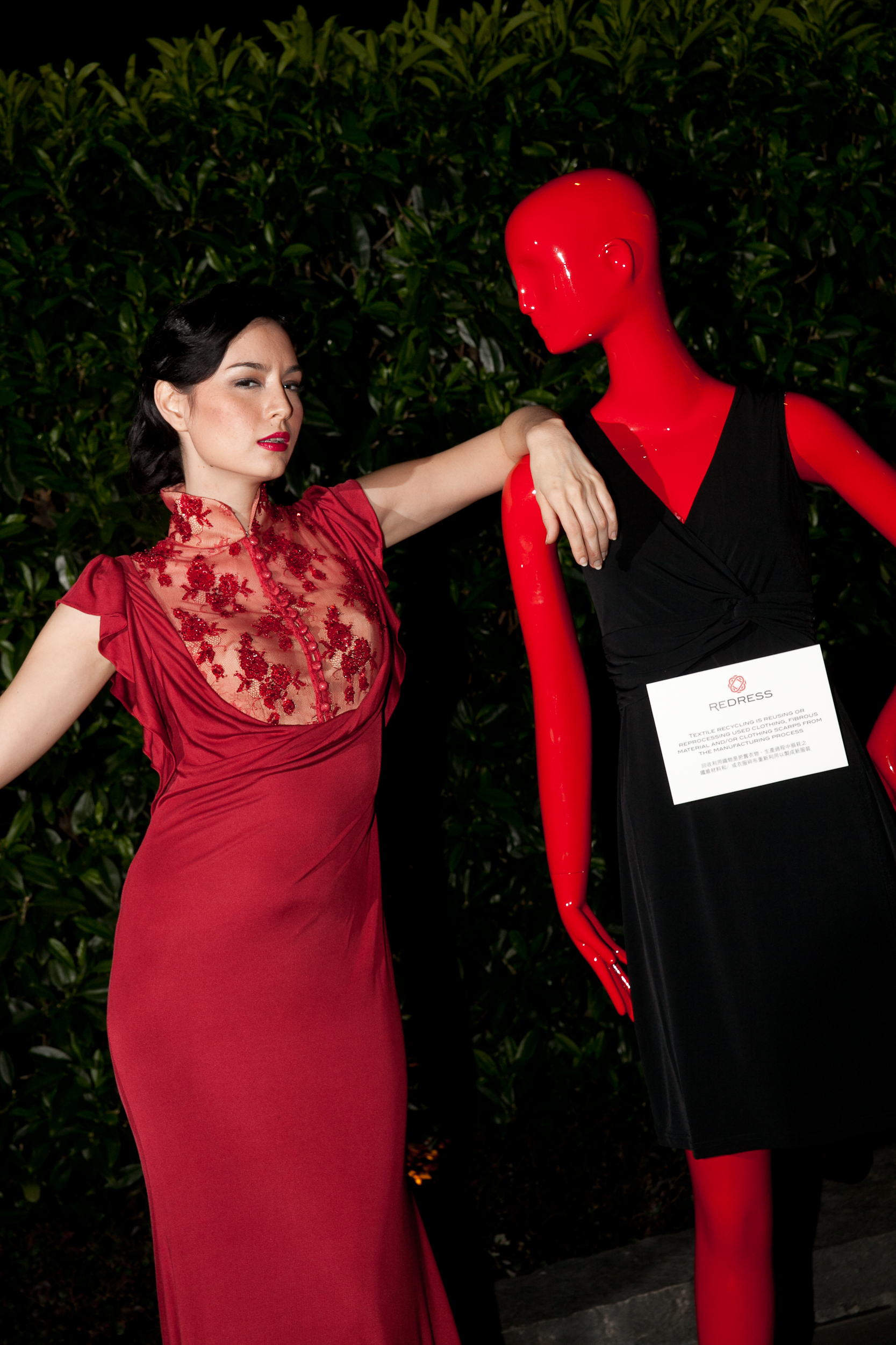 Hong Kong supermodel Ana R attends the Redress Design Award 2011 Grand Final Show