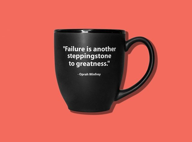 """ Failure is another steppingstone to greatness."" - I create the #MeetConstance Mugs that inspire so you can be reminded daily with your morning coffee or tea that you have what it takes to continue on with your business. Happy Monday everybody.  http://ow.ly/omfX50suz8x"