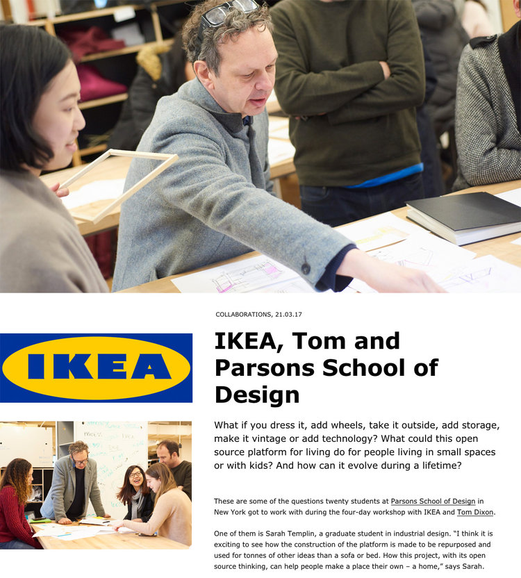 The project was featured in the New York Times and IKEA.today.