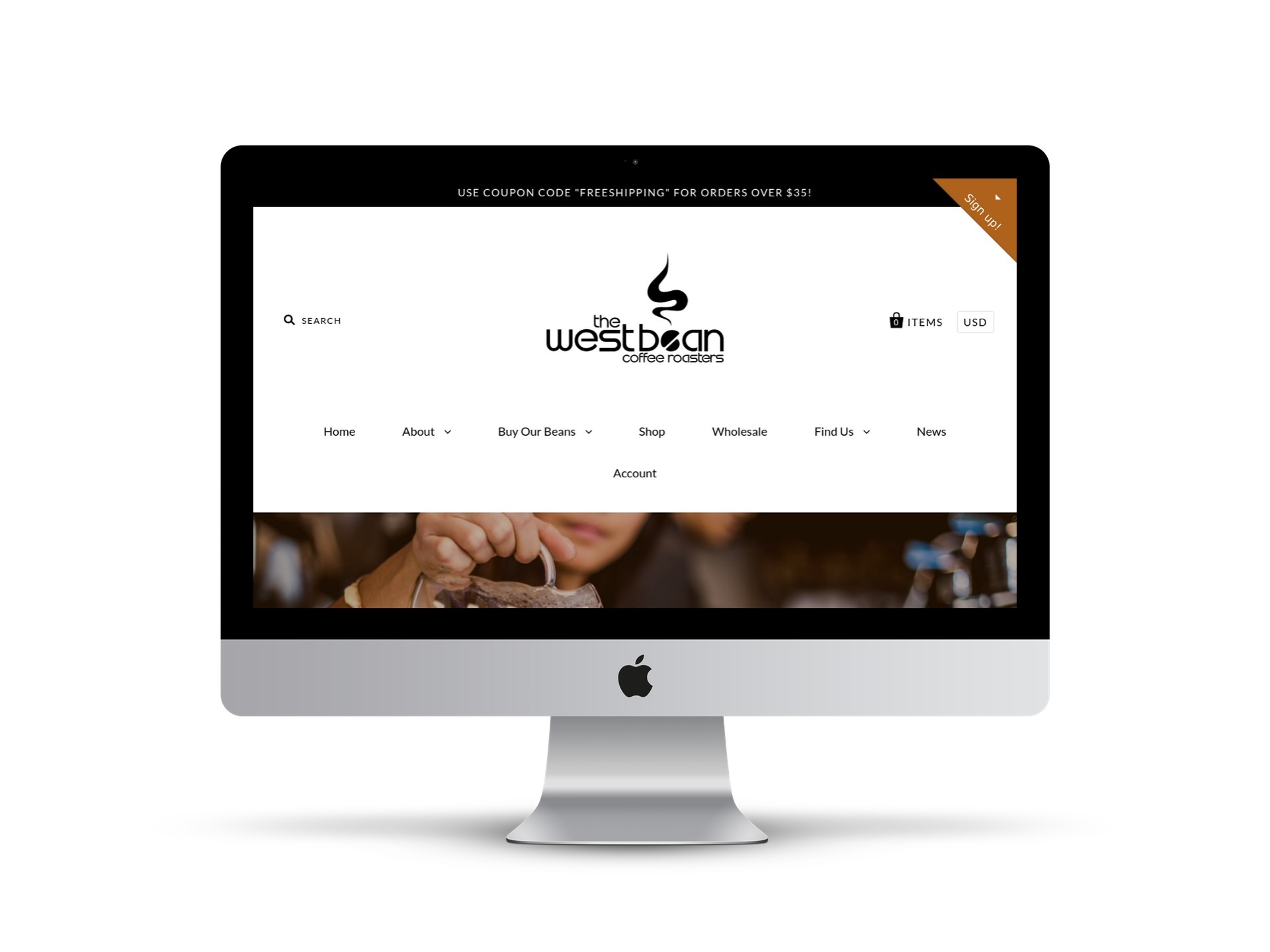 Max Pete provided Squarespace website design and development for The WestBean Coffee Roasters.