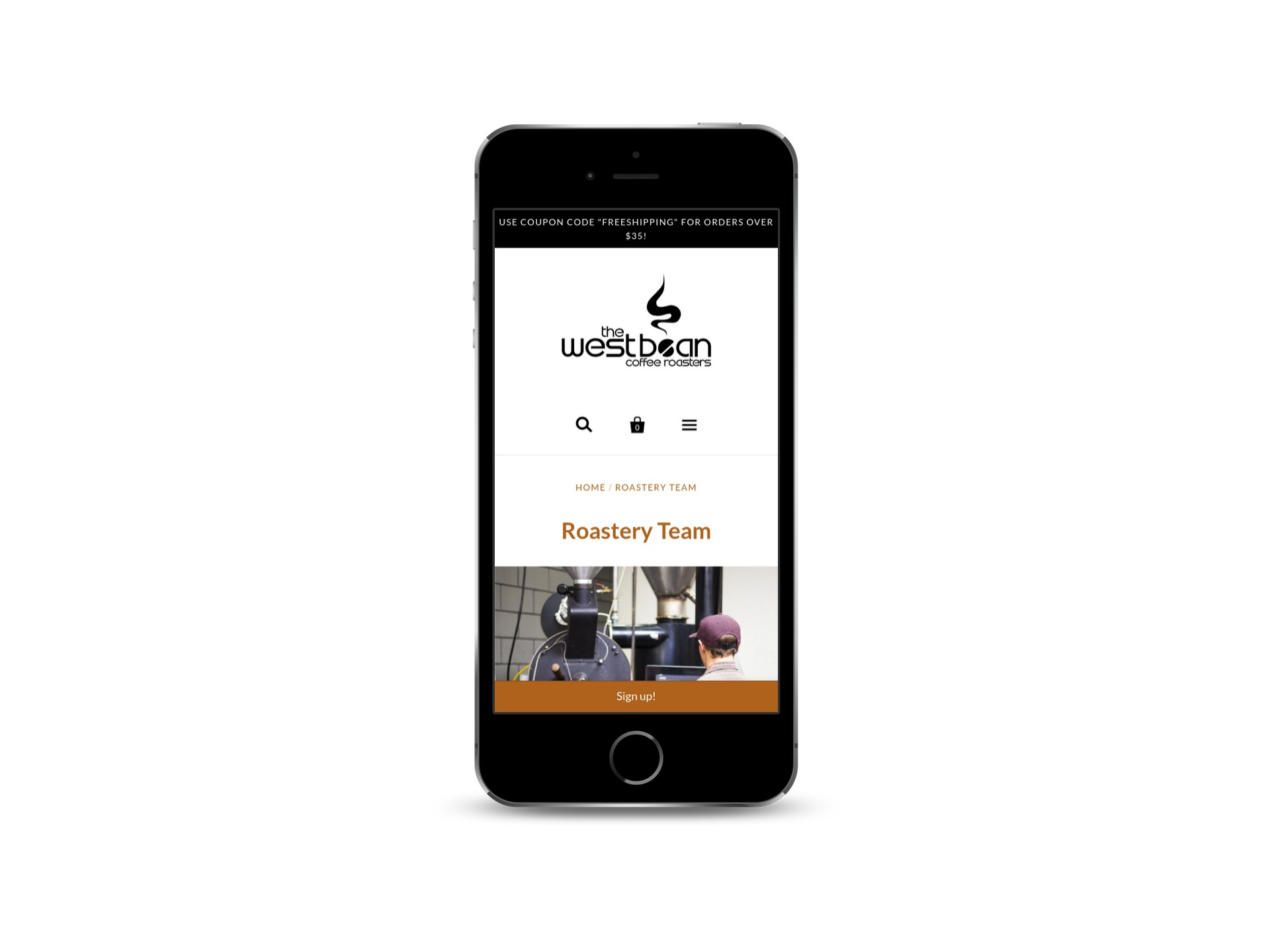 Max Pete provided Squarespace website design and development for The WestBean Coffee Roasters Website
