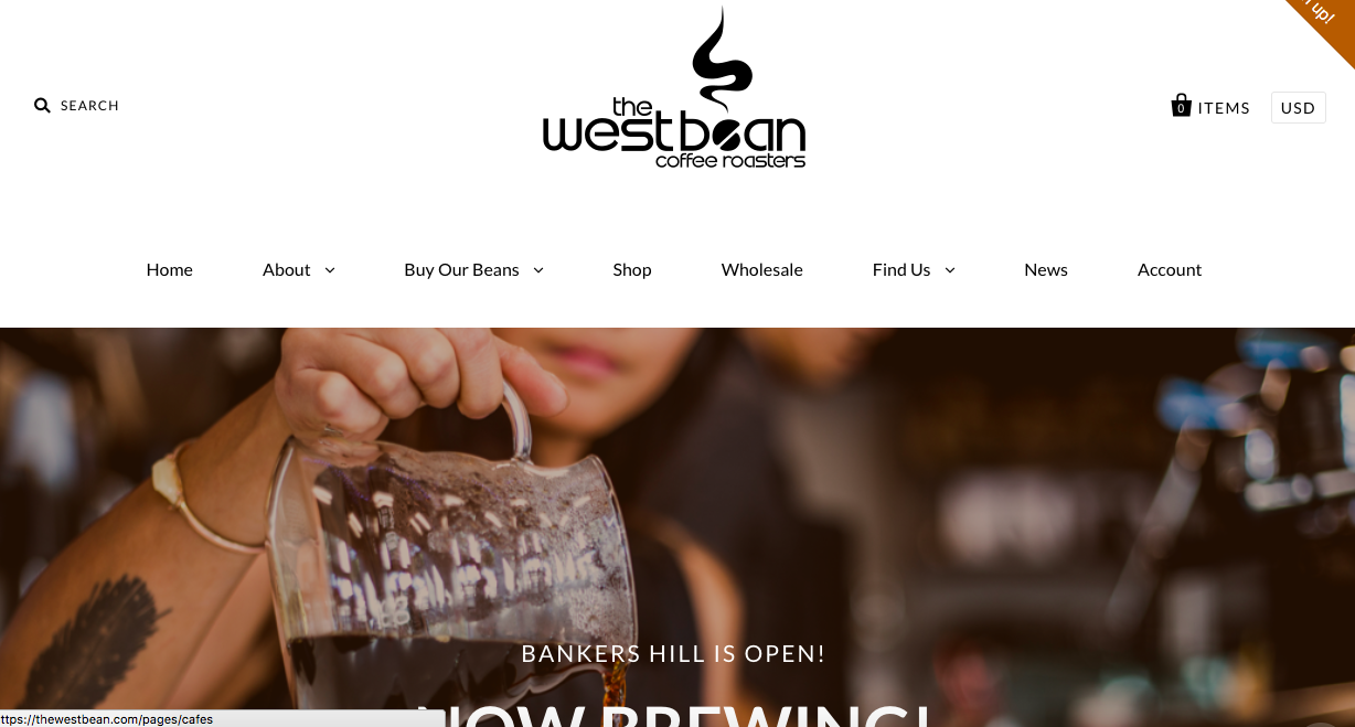 <p><strong>The WestBean Coffee Roasters</strong>Shopify Website Design<i>More →</i></p>
