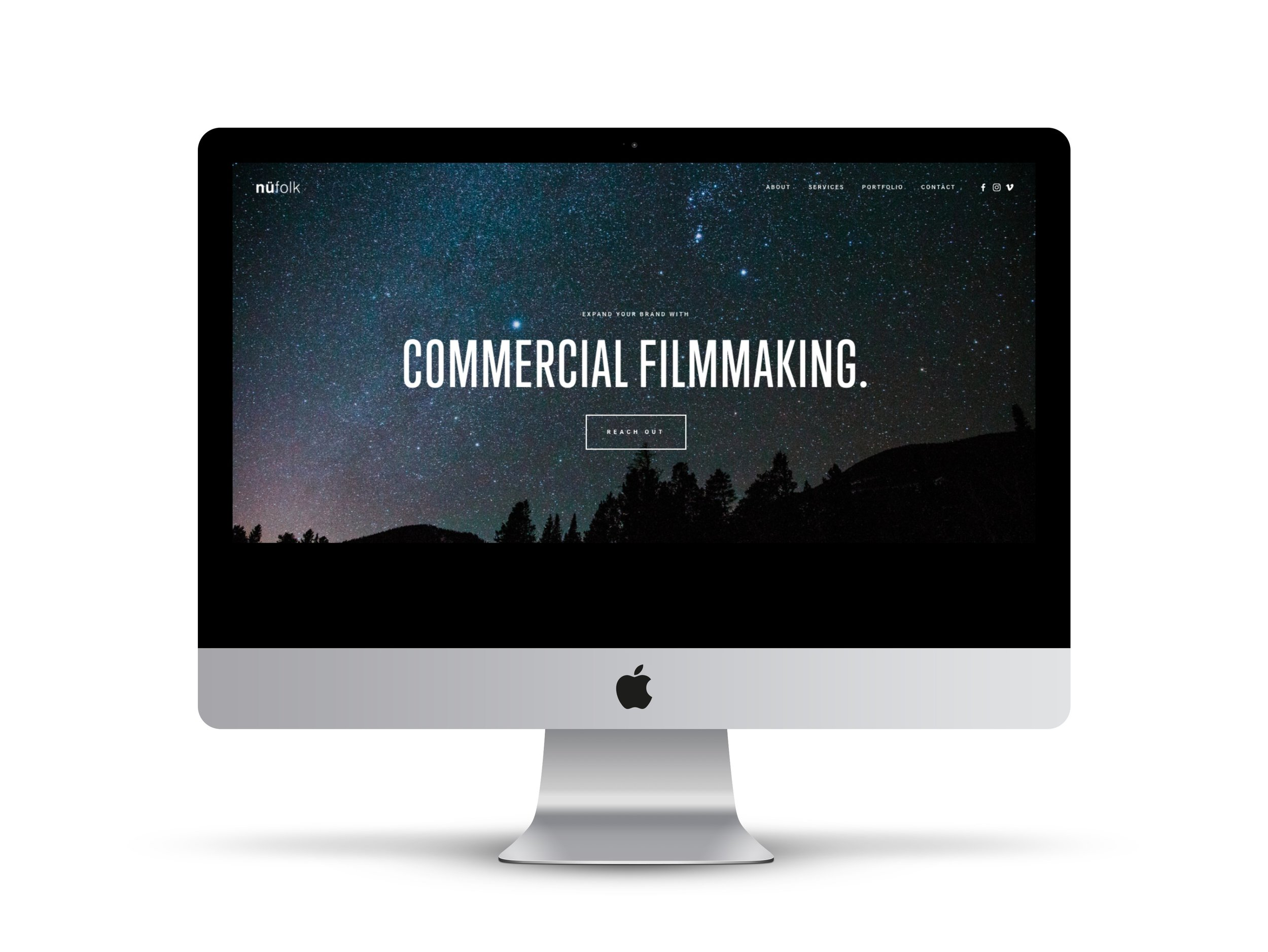 Max Pete provided Squarespace website design and development for nufolk.