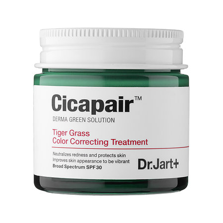 Dr. Jart+ Cicapair Tiger Grass Color Correcting Treatment - Out of the whole Tiger Grass System, the Color Correcting Treatment is their best seller and I can definitely see why.  This is a much thicker and almost grainy cream that you really massage all over the face and neck.  Its green color amazingly neutralizing all redness in the skin!  I read review of girls saying they no longer needed to wear foundation to cover their redness!! If you struggle with redness, head to Sephora and pick up a sample or click the button below to buy it now.