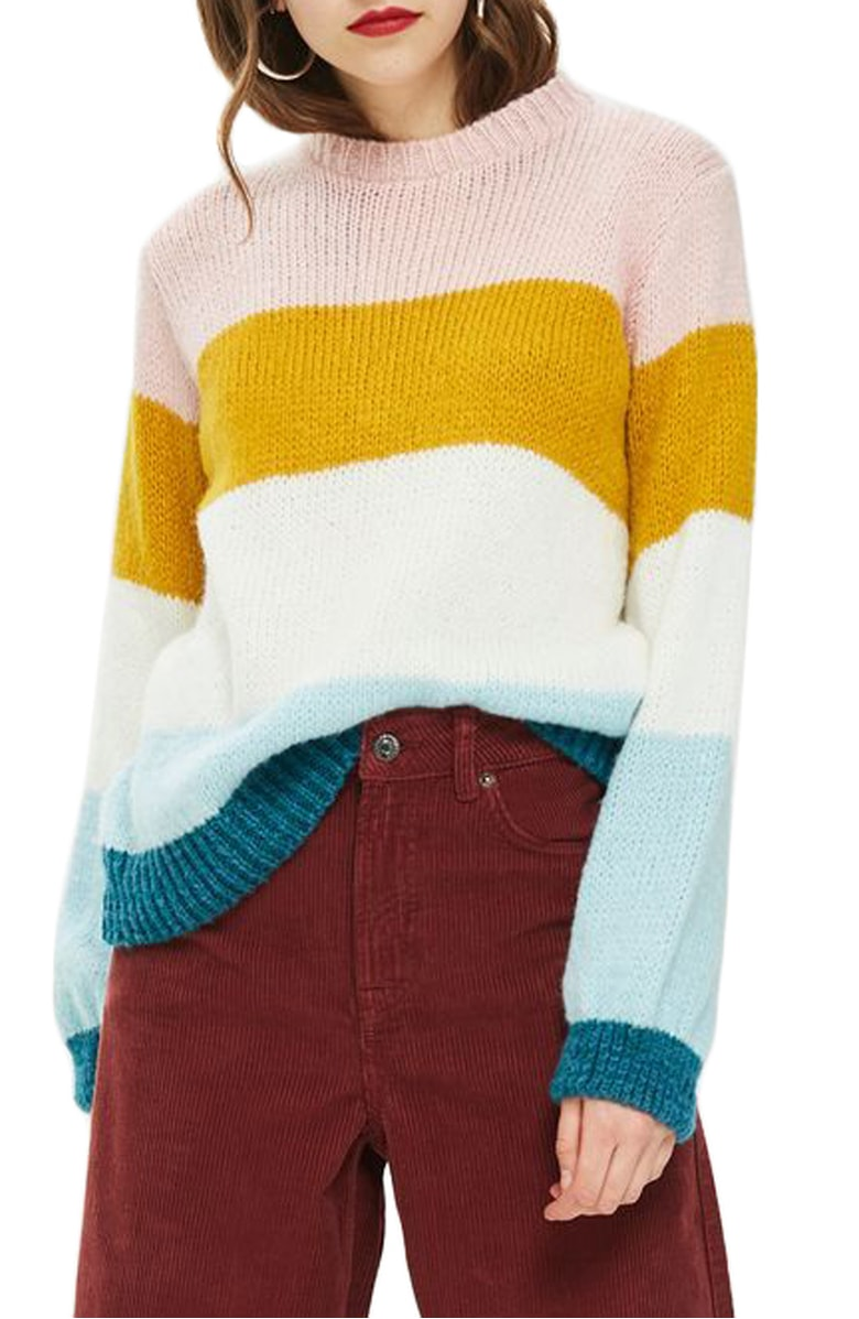 Topshop Colorblock Knit Pullover - I am VERY confident this sweater is going to sell out. I've seen almost every blogger who shopped even earlier than today, pick this up and rave about how cozy and not scratchy it is.
