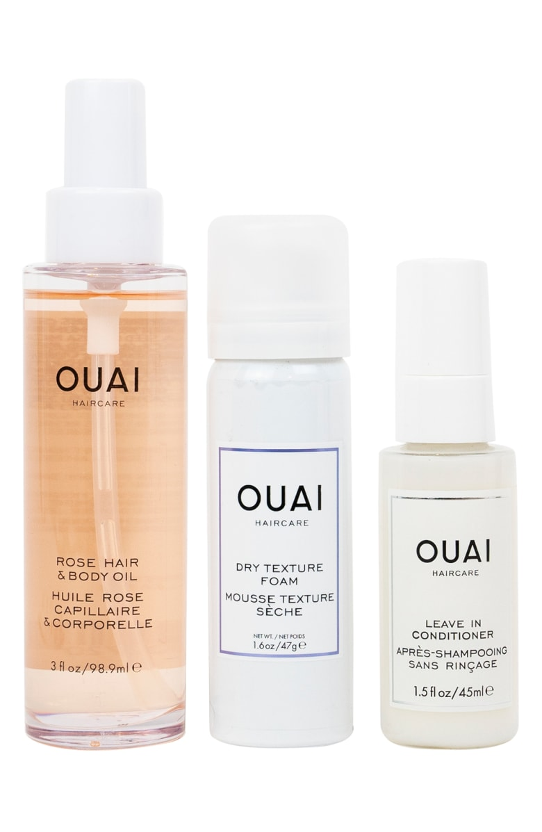 OUAI Summer Faves Set - Celeb stylist Jet Atkin's hair product line, OUAI, came on the scene a couple of years ago and have been best sellers ever since! I personally have fallen in love with every product I've tried from the line.  This set is the perfect way to try customer favorites.