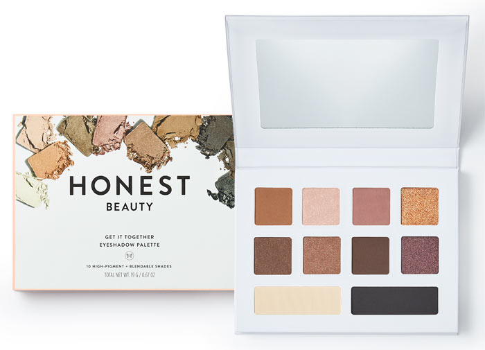 Honest Beauty Get It Together Eyeshadow Palette - Honest Beauty just did a big rebrand and also launched some fresh new products, one being this new eyeshadow palette. It has the perfect mix of neutrals in both shimmer and matte shades. I find eyeshadows to be some of the hardest makeup products to make