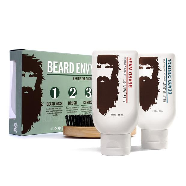 Billy Jealousy Beard Envy Kit - With No Shave November in full swing chances are you know more than one guy who could use some help taming that wild beard. This kit is not only under $30, but it also comes with a super nice brush which most other beard kits lack.