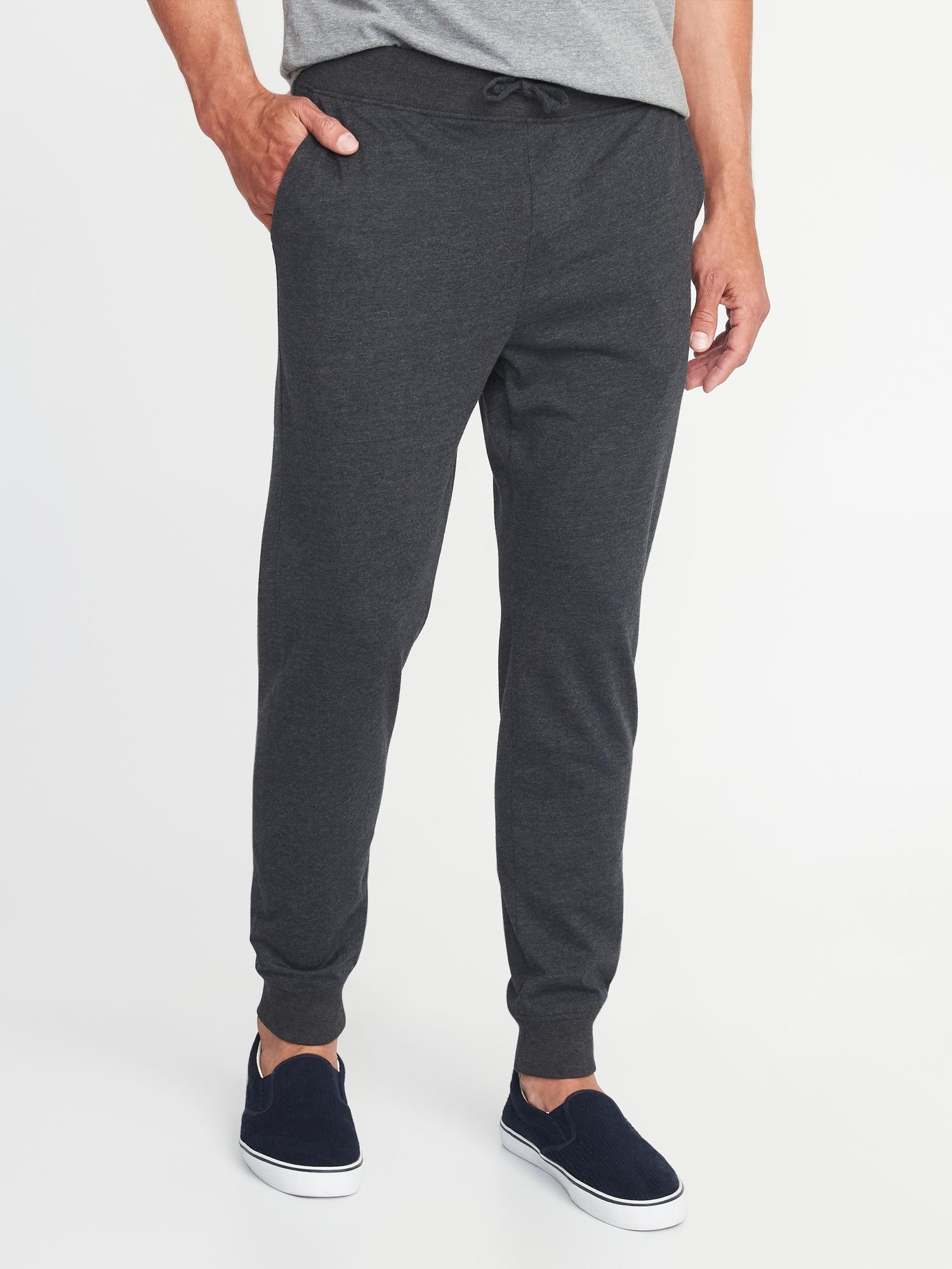 Old Navy Soft-Washed Jersey Knit Joggers - Girls have athlesiure down, so it's time to show guys the greener pastures of elastic waistbands for outside the house. Joggers are cool and publicly-acceptable sweatpants for everyday! I like to think of them as the yoga pants for guys. What makes them better than yoga pants is the price!! With joggers that cheap, you should probably pick up one in every color.